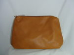 DARK TAN LARGE PURSE WITH TASSLES