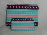 LARGE PURSE WITH TURQUOISE AND AZTEC PRINT 3 IN 1