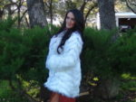 WHITE CRYSTAL FOX COAT