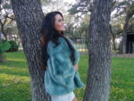TEAL FOX CROP JACKET