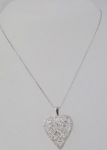 Domed Heart Diamond Necklace