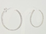Sideways Diamond Hoop Earrings