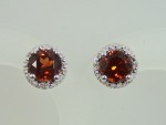 Round Garnet With Diamonds