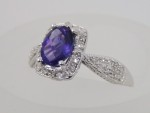 White Gold With Amethyst And Diamonds